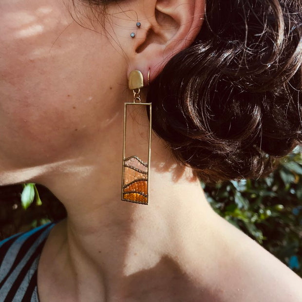 Hillside Earrings - Earthtones