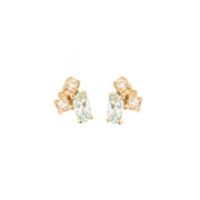 Birthstone Studs: Aquamarine (March)