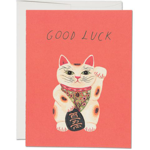 Good Luck Kitty Encouragement Card