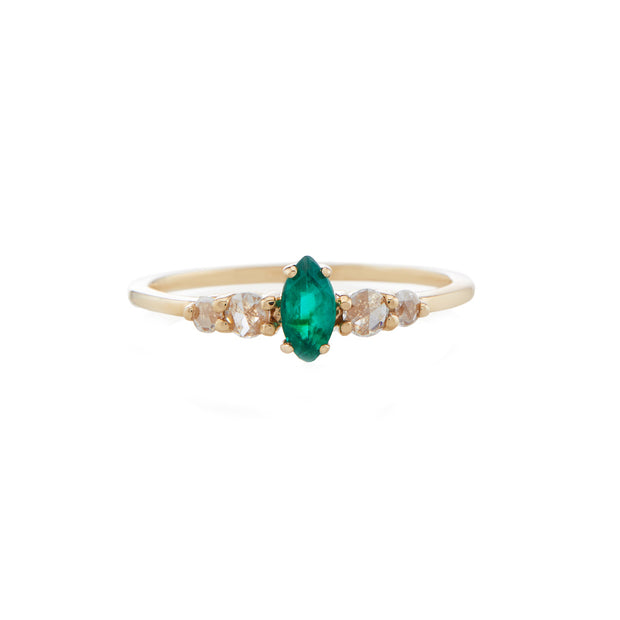 Bellatrix Emerald Marquis Ring