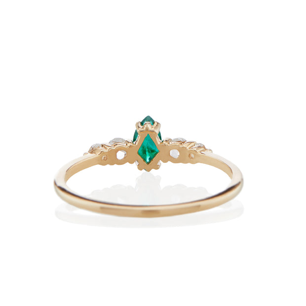 Bellatrix Emerald Marquise Ring