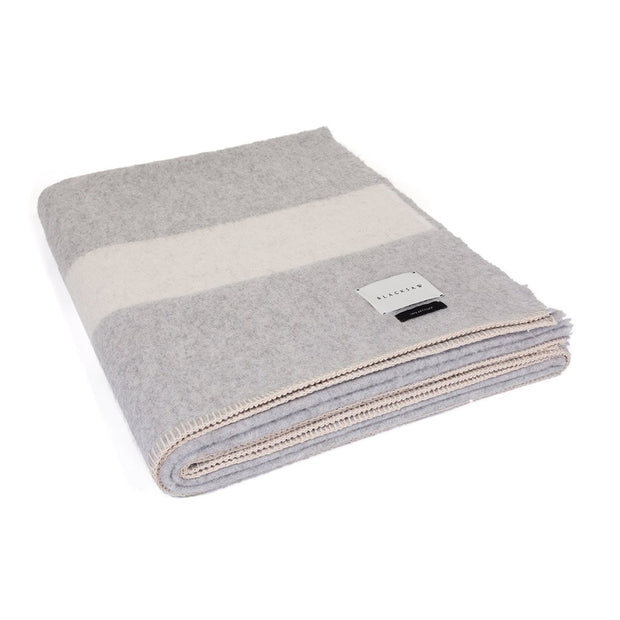 Siempre Recycled Throw: Grey/White