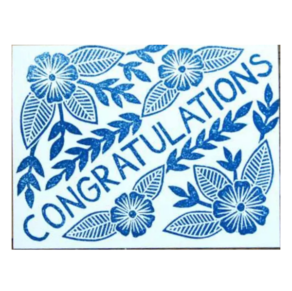Block Print Congratulations Card - Shelter Jewelry Shop DC