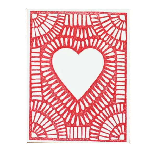 Block Printed Heart Card - Shelter Jewelry Shop DC