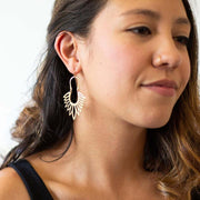 Flor Earrings - Brass