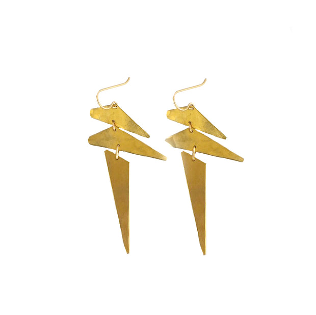 Punk Earrings - Brass