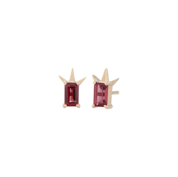 Rhodolite Garnet Centar Earrings