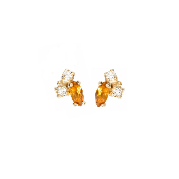 Birthstone Studs: Citrine (November)