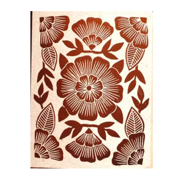 Copper Foil Floral Card - Shelter Jewelry Shop DC