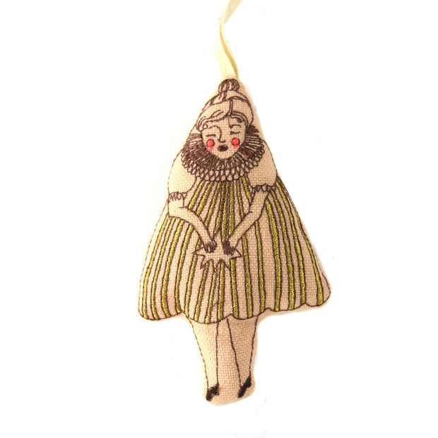 Wishing Star Girl Lavender Ornament