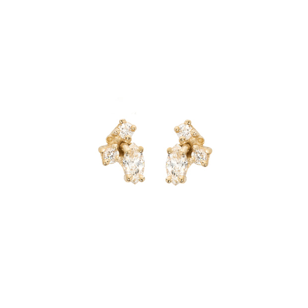 Birthstone Studs: Diamond (April)
