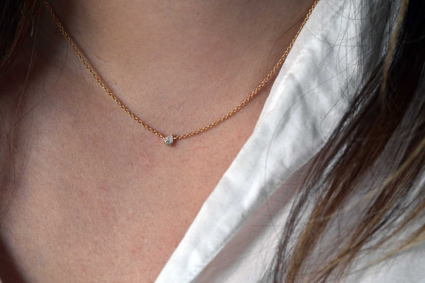 Diamond Pear Necklace