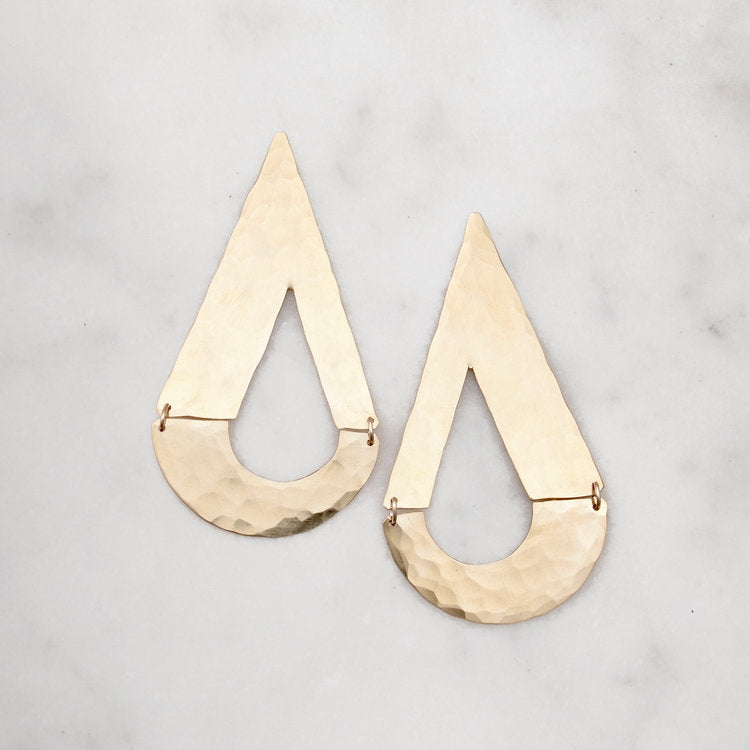 Dew Drop Earring  - Brass - Shelter Jewelry Shop DC