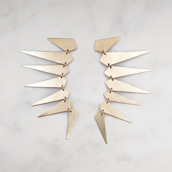 Maxima Punk Earrings - Brass - Shelter Jewelry Shop DC