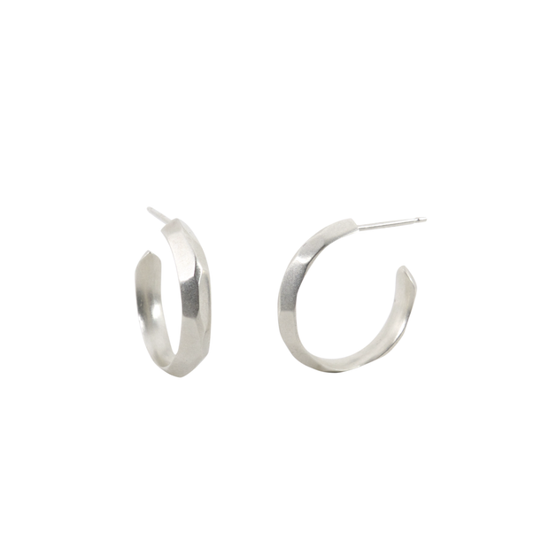 Small Denali Hoop Earrings- Sterling Silver