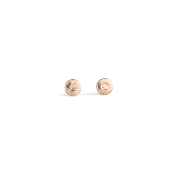 Rise Rose Gold and Diamond Studs
