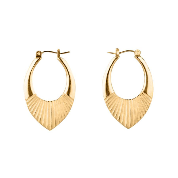Medium Vermeil Helios Hoops