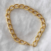 Elongated Curb Chain Bracelet