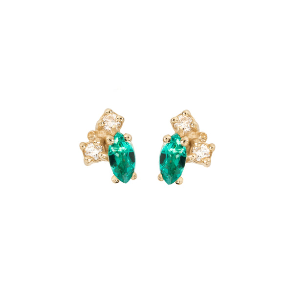 Birthstone Studs: Emerald (May)