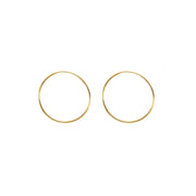 14k Yellow Gold Endless Hoop Earrings