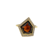 One Of A Kind Fire Citrine Ring