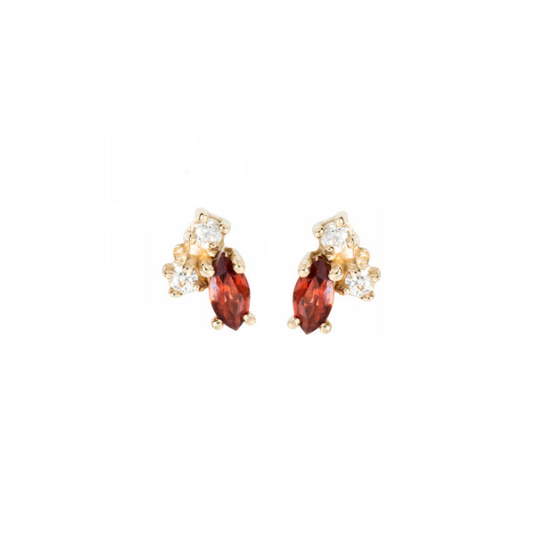 Birthstone Studs: Garnet (January)