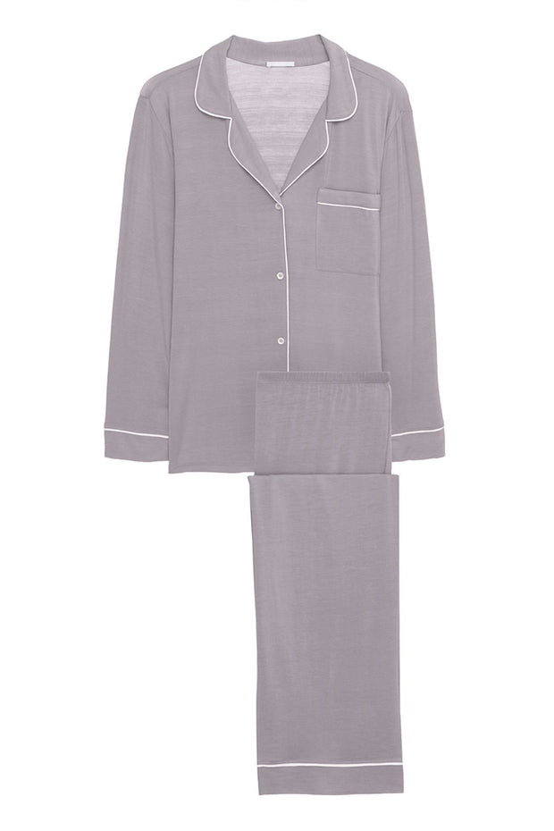 Gisele Long PJ Set - Dusk/Ivory
