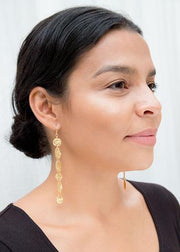 Gold Strokes Mismatched Earrings