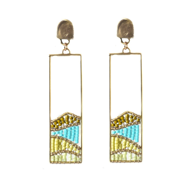 Hillside Earrings - Green