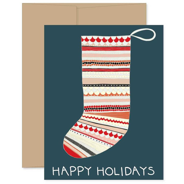 Happy Holidays Stocking Card