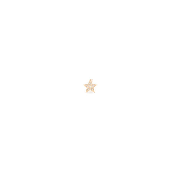 Itty Bitty Pave Diamond Star Stud - Single