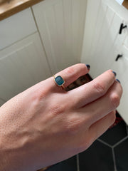 Bezel Set Square Opal Ring