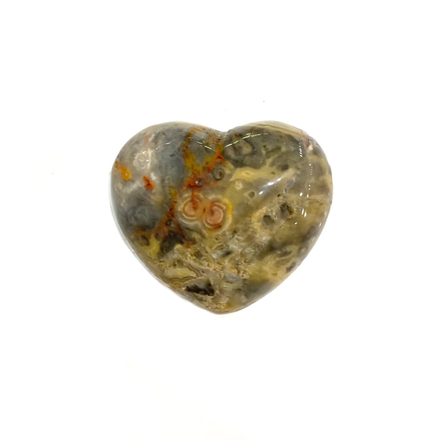 Grey Lace Agate Heart