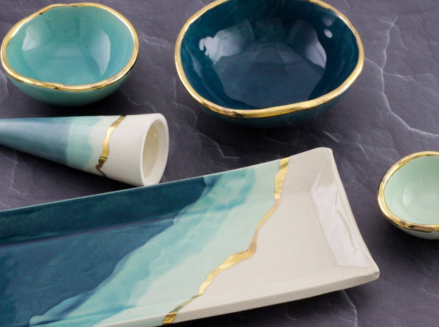 Green Ombre Jewelry Dishes - Shelter Jewelry Shop DC