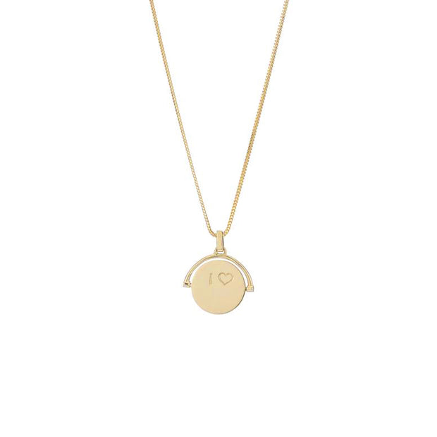 I Love You Pirouette Fob Necklace