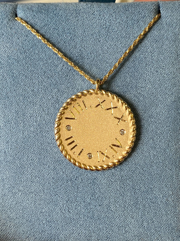 Imperial Disc Necklace