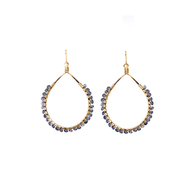 Mini Carlita Hoops - Iolite