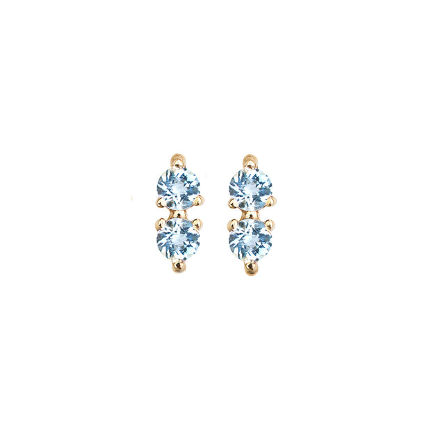 Blue Topaz Colon Studs