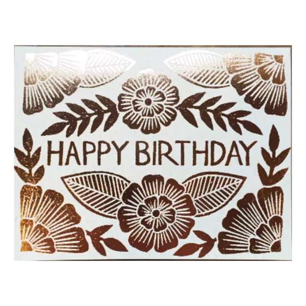 Happy Birthday Foil Card - Shelter Jewelry Shop DC