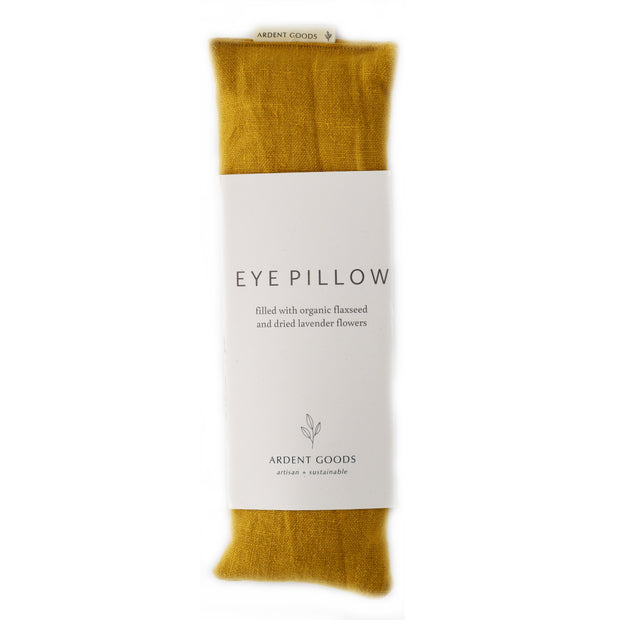 Linen Lavender Eye Pillow - Mustard