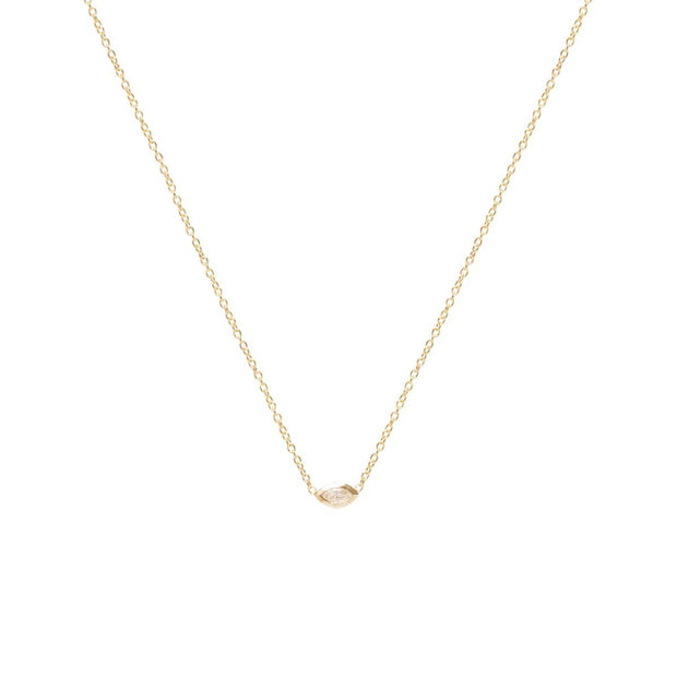 Horizontal Marquis Diamond Necklace
