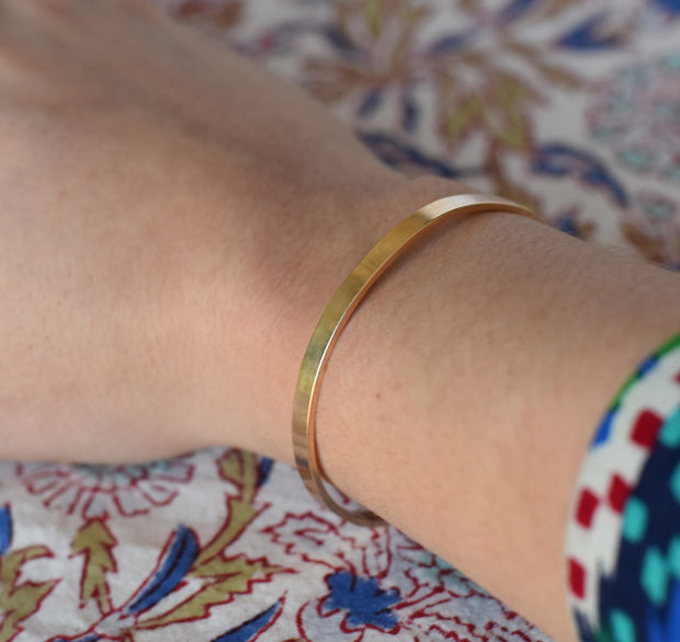 14k Gold Cuff Bracelet - Shelter Jewelry Shop DC