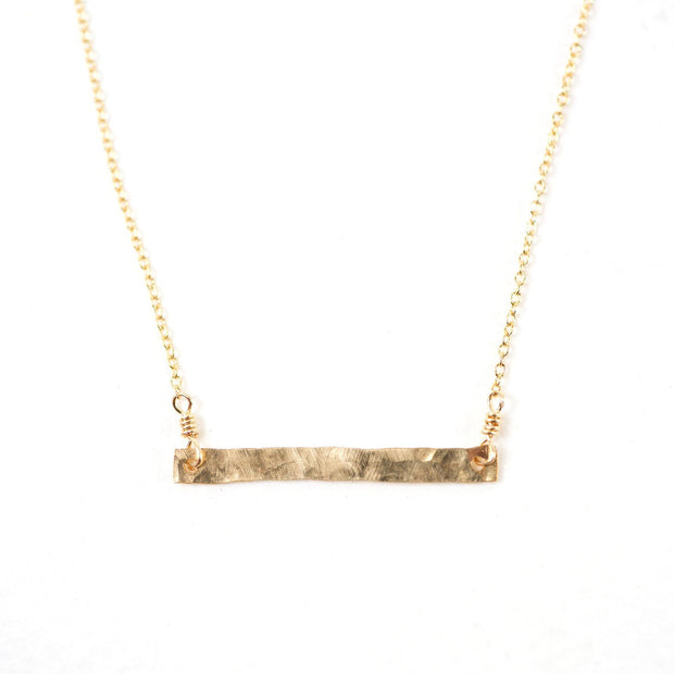 Hammered Bar Necklace - Shelter Jewelry Shop DC