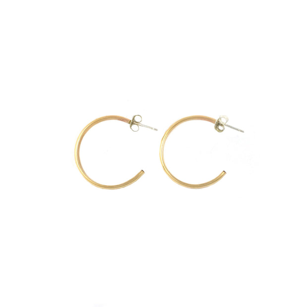 Mini Half Moon Hoops - Shelter Jewelry Shop DC