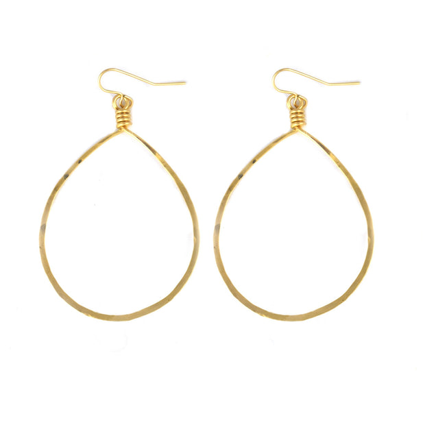 14k Goldfill Oval Hoop Earrings - Shelter Jewelry Shop DC