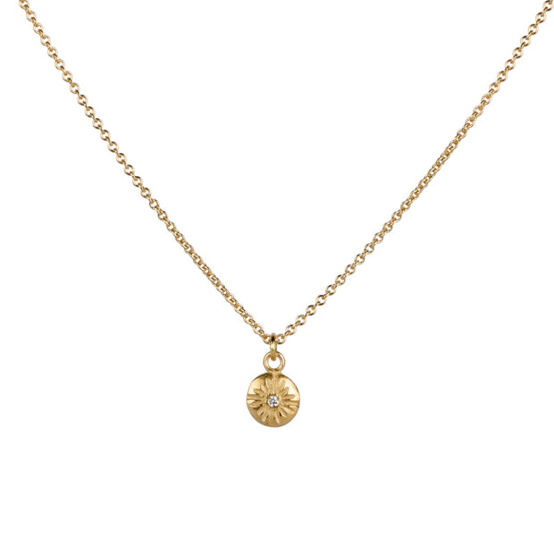Small Lucia Vermeil Diamond Necklace