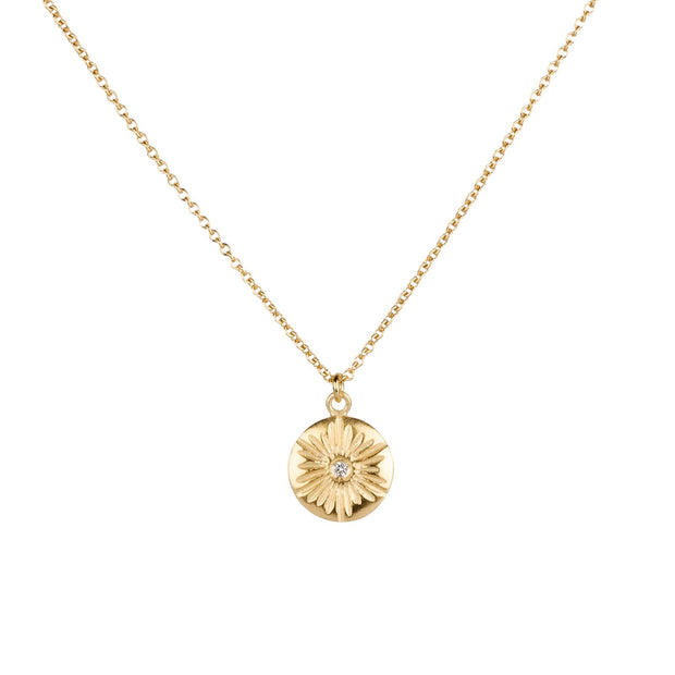 Large Lucia Vermeil Diamond Necklace