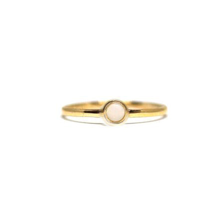 Opal Birthstone Stacking Ring