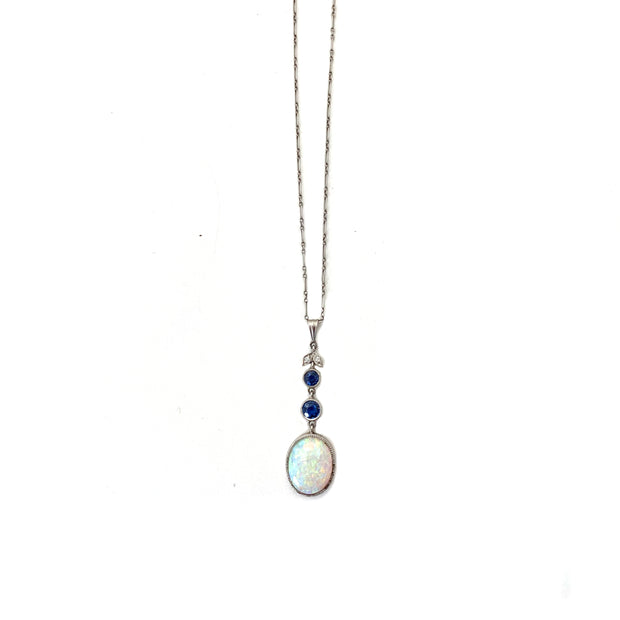 Opal and Sapphire Necklace