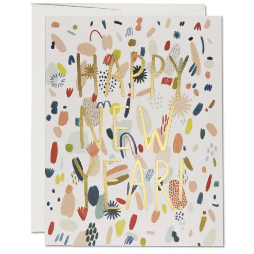 Happy New Year Confetti Card